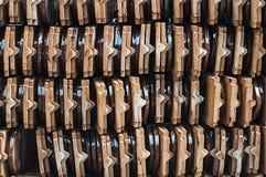 Τα κεραμίδια στεγών ναών, κεραμίδια στεγών, στέγη κεραμώνουν το απόθεμα του μέτρου Στοκ Εικόνες