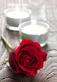 τα κεριά αυξήθηκαν Στοκ εικόνες με δικαίωμα ελεύθερης χρήσης