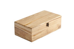 τα κιβώτια απομόνωσαν ξύλιν Στοκ Εικόνες