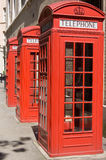 τα κιβώτια Βρετανοί τηλε&phi Στοκ φωτογραφία με δικαίωμα ελεύθερης χρήσης