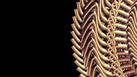 Τα κινούμενα περιστρεφόμενα χρυσά χρυσά εργαλεία μετάλλων αλυσοδένουν στοιχείων το άνευ ραφής βρόχων υπόβαθρο γραφικής παράστασης απόθεμα βίντεο