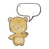 τα κινούμενα σχέδια λίγα teddy αντέχουν με τη λεκτική φυσαλίδα Στοκ εικόνες με δικαίωμα ελεύθερης χρήσης