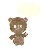 τα κινούμενα σχέδια λίγα teddy αντέχουν με τη λεκτική φυσαλίδα Στοκ φωτογραφίες με δικαίωμα ελεύθερης χρήσης