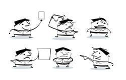 Τα κινούμενα σχέδια επιχειρηματιών θέτουν στους διάφορους χαρακτήρες Απεικόνιση αποθεμάτων