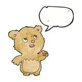 τα κινούμενα σχέδια ευτυχή λίγα teddy αντέχουν με τη λεκτική φυσαλίδα Στοκ εικόνες με δικαίωμα ελεύθερης χρήσης