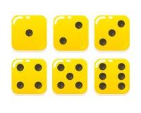Τα κινούμενα σχέδια κίτρινα χωρίζουν σε τετράγωνα Στοκ Εικόνες