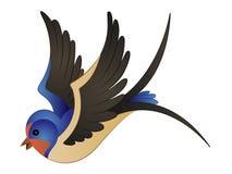 Τα κινούμενα σχέδια καταπίνουν τη διανυσματική απεικόνιση Clipart πουλιών Στοκ Φωτογραφίες