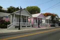 Τα κλασικά μπανγκαλόου στην πόλη της Key West, Φλώριδα Στοκ φωτογραφία με δικαίωμα ελεύθερης χρήσης