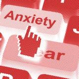 Τα κλειδιά φόβου ανησυχίας σημαίνουν την ανήσυχη φοβισμένη τρισδιάστατη απόδοση ελεύθερη απεικόνιση δικαιώματος