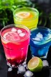 τα κοκτέιλ χρωματίζουν τρ στοκ φωτογραφίες