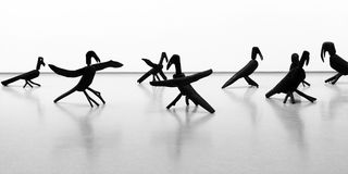 τα κοράκια σύνθεσης σμιλεύουν ξύλινο Στοκ Εικόνα