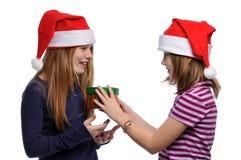 τα κορίτσια Χριστουγέννω Στοκ Εικόνες