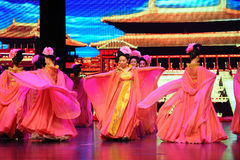 Τα κορίτσι-μεγάλα σενάρια show† κλίμακας δυναστείας του Tang ο δρόμος legend† Στοκ Φωτογραφία
