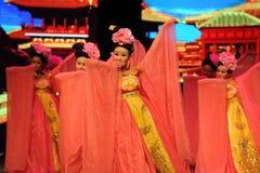 Τα κορίτσι-μεγάλα σενάρια show† κλίμακας δυναστείας του Tang ο δρόμος legend† Στοκ φωτογραφία με δικαίωμα ελεύθερης χρήσης