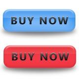 τα κουμπιά αγοράζουν τώρα Στοκ φωτογραφία με δικαίωμα ελεύθερης χρήσης