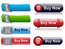 τα κουμπιά αγοράζουν διανυσματική απεικόνιση