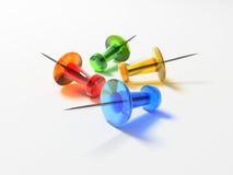 τα κουμπιά ανασκόπησης χρωματίζουν την καρφίτσα στο λευκό διανυσματική απεικόνιση