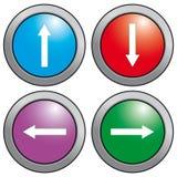 Τα κουμπιά βελών. Στοκ Εικόνες