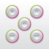 Τα κουμπιά για τη συσκευή αναπαραγωγής πολυμέσων Στοκ φωτογραφία με δικαίωμα ελεύθερης χρήσης