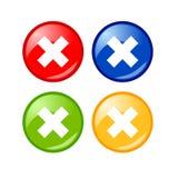 τα κουμπιά κλείνουν το δ&i Στοκ Εικόνες