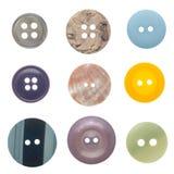 τα κουμπιά που τίθενται το ράψιμο Στοκ εικόνα με δικαίωμα ελεύθερης χρήσης