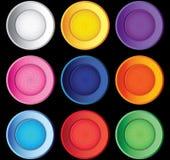 τα κουμπιά που τίθενται τ&et Στοκ φωτογραφία με δικαίωμα ελεύθερης χρήσης