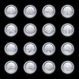 τα κουμπιά που τίθενται τ&om διανυσματική απεικόνιση