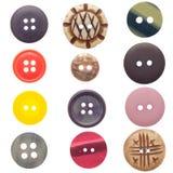 τα κουμπιά που τίθενται τ&om Στοκ Φωτογραφίες