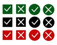 Τα κουμπιά σημαδιών ελέγχου καθορισμένα το σύγχρονο σχέδιο Στοκ φωτογραφία με δικαίωμα ελεύθερης χρήσης