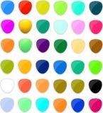 τα κουμπιά χρωμάτισαν αστ&epsi Στοκ φωτογραφία με δικαίωμα ελεύθερης χρήσης