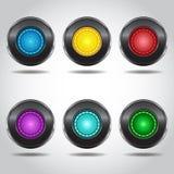 τα κουμπιά χρωμάτισαν πολ&u Στοκ Εικόνες