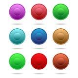 τα κουμπιά χρωμάτισαν πολ&u Στοκ εικόνες με δικαίωμα ελεύθερης χρήσης