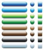 τα κουμπιά 1 που τίθενται τ& Στοκ εικόνα με δικαίωμα ελεύθερης χρήσης