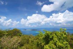 τα κράτη νησιών ένωσαν τη Virgin Στοκ Εικόνες