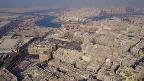 Τα κτήρια στο εμιράτο του Ντουμπάι εναέρια όψη Ντουμπάι, Ηνωμένα Αραβικά Εμιράτα Εναέρια άποψη του εμπορικού κέντρου Στοκ φωτογραφία με δικαίωμα ελεύθερης χρήσης