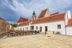 Τα κτήρια στο κύριο τετράγωνο, σκουριά, Ruszt, σε Neusiedler βλέπουν, Λα στοκ φωτογραφία με δικαίωμα ελεύθερης χρήσης