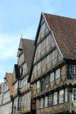 τα κτήρια celle Γερμανία εφοδίασαν με ξύλα κατά το ήμισυ Στοκ εικόνα με δικαίωμα ελεύθερης χρήσης