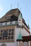 τα κτήρια celle Γερμανία εφοδίασαν με ξύλα κατά το ήμισυ Στοκ Εικόνες