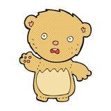 τα κωμικά κινούμενα σχέδια ανησύχησαν ότι teddy αντέξτε Στοκ εικόνα με δικαίωμα ελεύθερης χρήσης