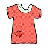 τα κωμικά κινούμενα σχέδια επιδιόρθωσαν το παλαιό πουκάμισο γραμμάτων Τ Στοκ Εικόνα