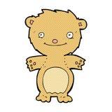 τα κωμικά κινούμενα σχέδια ευτυχή λίγα teddy αντέχουν Στοκ εικόνες με δικαίωμα ελεύθερης χρήσης