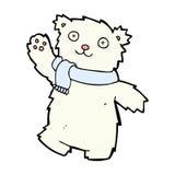 τα κωμικά κινούμενα σχέδια teddy αντέχουν το φορώντας μαντίλι Στοκ φωτογραφία με δικαίωμα ελεύθερης χρήσης