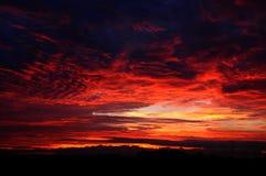 Τα κόκκινα σύννεφα Στοκ φωτογραφία με δικαίωμα ελεύθερης χρήσης