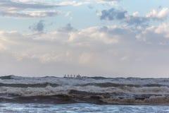 Τα κύματα θάλασσας τοπίων Στοκ Φωτογραφίες
