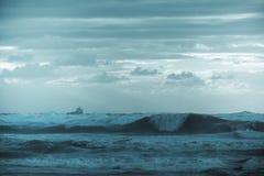 Τα κύματα θάλασσας τοπίων Στοκ Εικόνα