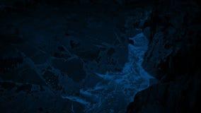 Τα κύματα πρήζονται επάνω τη Gap στους βράχους τη νύχτα απόθεμα βίντεο