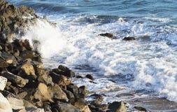 Τα κύματα του Ειρηνικού Ωκεανού, το τοπίο παραλιών Στοκ Εικόνα