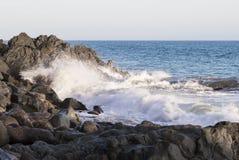 Τα κύματα του Ειρηνικού Ωκεανού, το τοπίο παραλιών Στοκ Φωτογραφίες