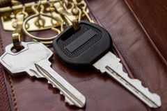 Τα κλειδιά για την ιδιοκτησία, πόρτα, κτήμα στοκ φωτογραφία