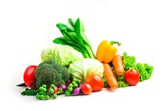 Τα λαχανικά συλλογής απομόνωσαν το άσπρο υπόβαθρο Στοκ Φωτογραφίες